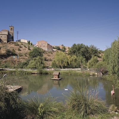 River park on the banks of the river Noguera Ribagorçana