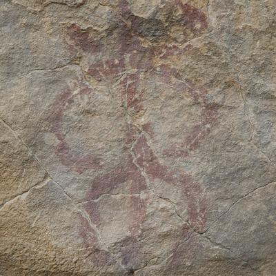L'Albi. Detalle de una pintura rupestre en el yacimiento del Valle de la Coma.  (Miguel Raurich)