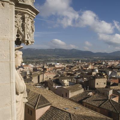 Vista de la localidad desde el campanario de la iglesia archipestral de Santa Maria  (Miguel Raurich)