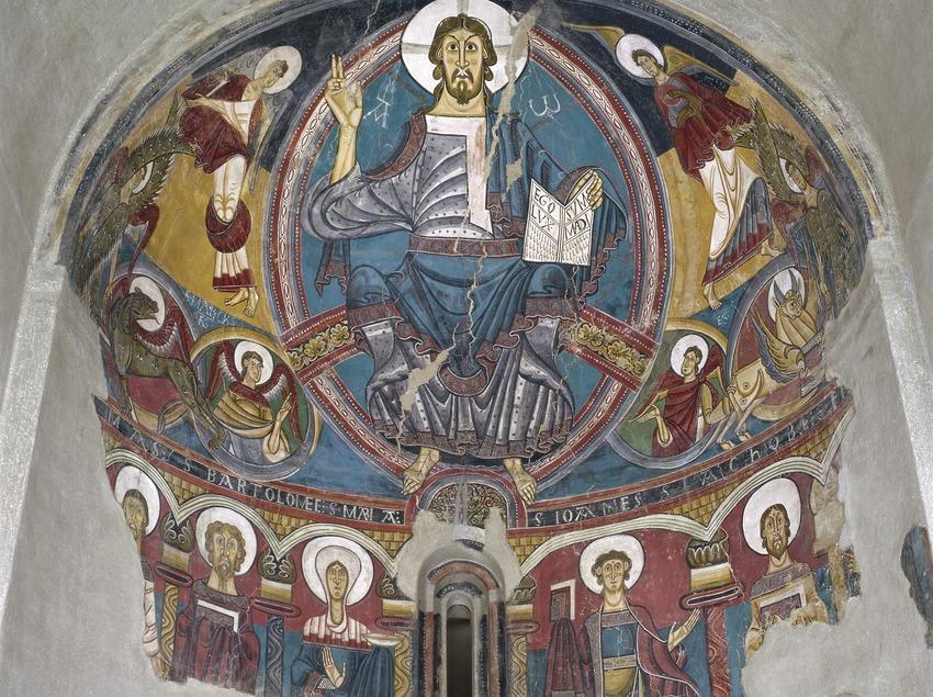 Ábside central de la iglesia de Sant Climent de Taüll (siglo XII). Museu Nacional d'Art de Catalunya.  (Imagen M.A.S.)