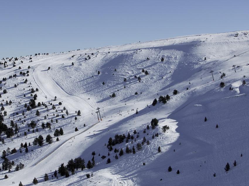 Ski slopes at the Port Ainé Ski Resort