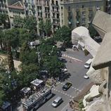Bus turístic davant del Temple Expiatori Sagrada Família (Imagen M.A.S.)