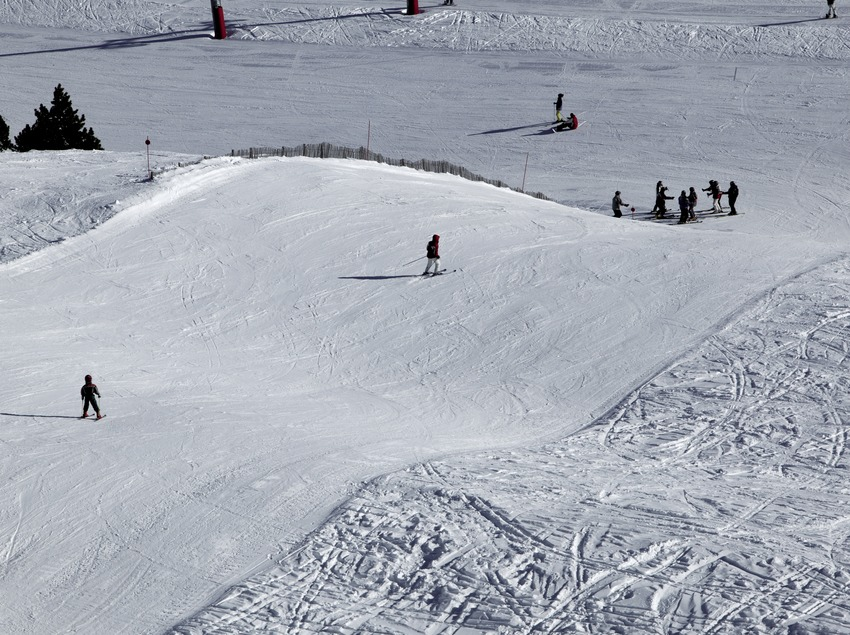 Ski slope at the Port Ainé Ski Resort