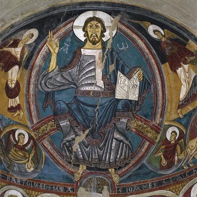 Pantocrátor del ábside central de la iglesia de Sant Climent de Taüll (siglo XII). Museu Nacional d'Art de Catalunya.