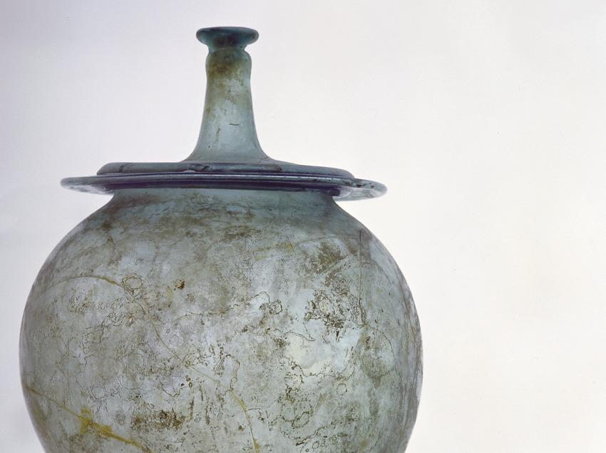Urna de vidre del Museu d'Arqueologia de Catalunya (Imagen M.A.S.)