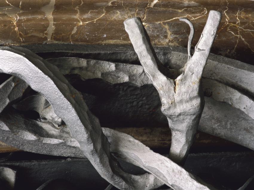 Detalle de forja en la puerta de la fachada principal del Palau Güell  (Imagen M.A.S.)