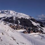 Валь-д'Аран Аэрофотоснимок Берета рядом с горнолыжным курортом Бакейра-Берет