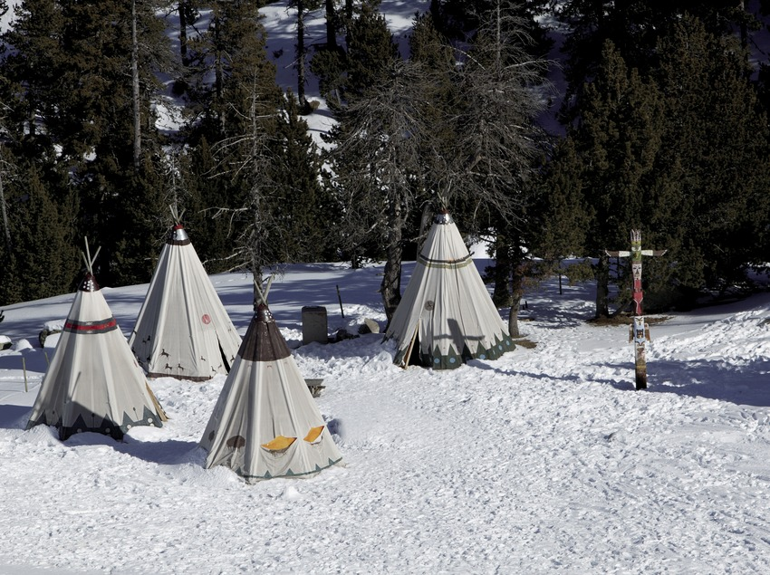 Indian village located at elevation 2000 at the Spot Esquí Ski Resort (Nano Canas)
