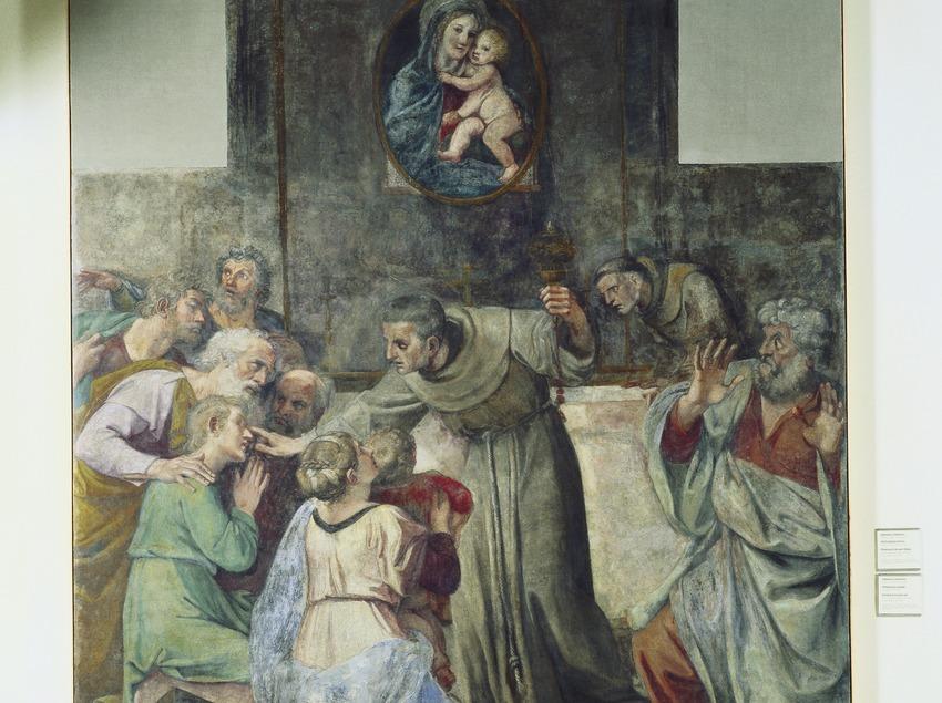 Pinturas murales de la Capilla Herrera (siglos XVI-XVII), de Annibale Carracci. Museu Nacional d'Art de Catalunya.  (Imagen M.A.S.)