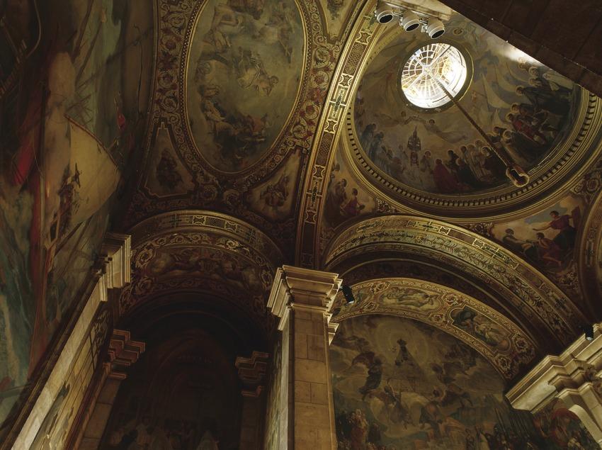 Cúpula del Salón de Sant Jordi del Palau de la Generalitat (Imagen M.A.S.)
