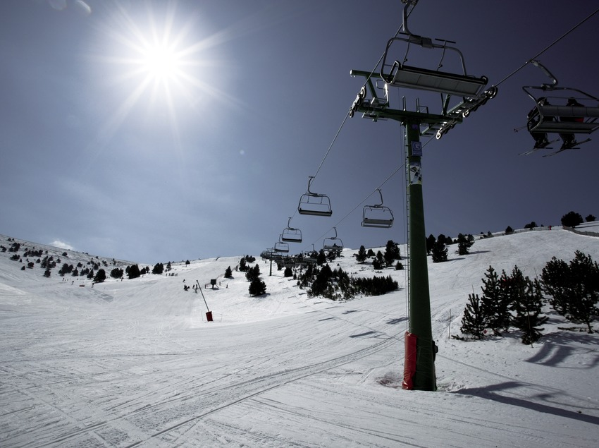 Telesilla de la estación de esquí de La Molina
