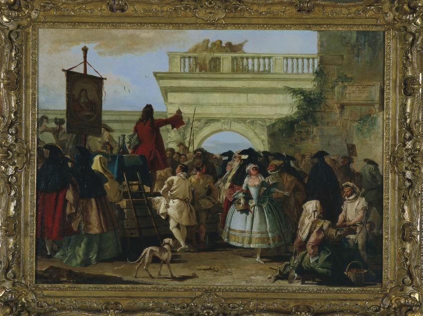 El xarlatà (1756), de Giandomenico Tiepolo. Museu Nacional d'Art de Catalunya  (Imagen M.A.S.)