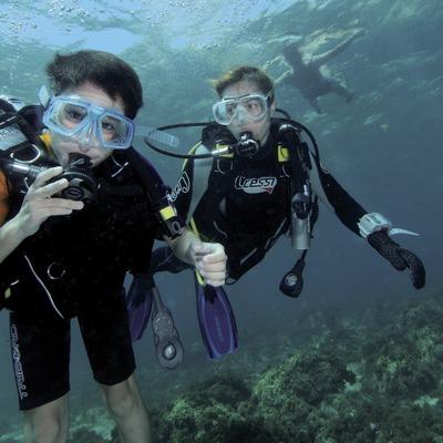 Primera immersió al fons marí de la Caleta de Palamós o Cala de Morro del Vedell
