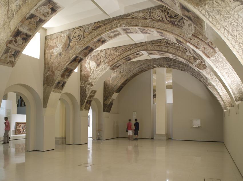 Sala dedicada a las pinturas de la sala capitular de Sixena, ámbito 21, del Museu Nacional d'Art de Catalunya.