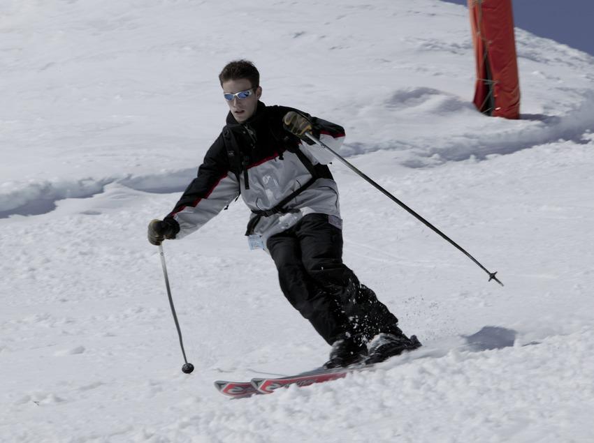 Esquiador a l'estació de Vallter 2000 (Nano Canas)