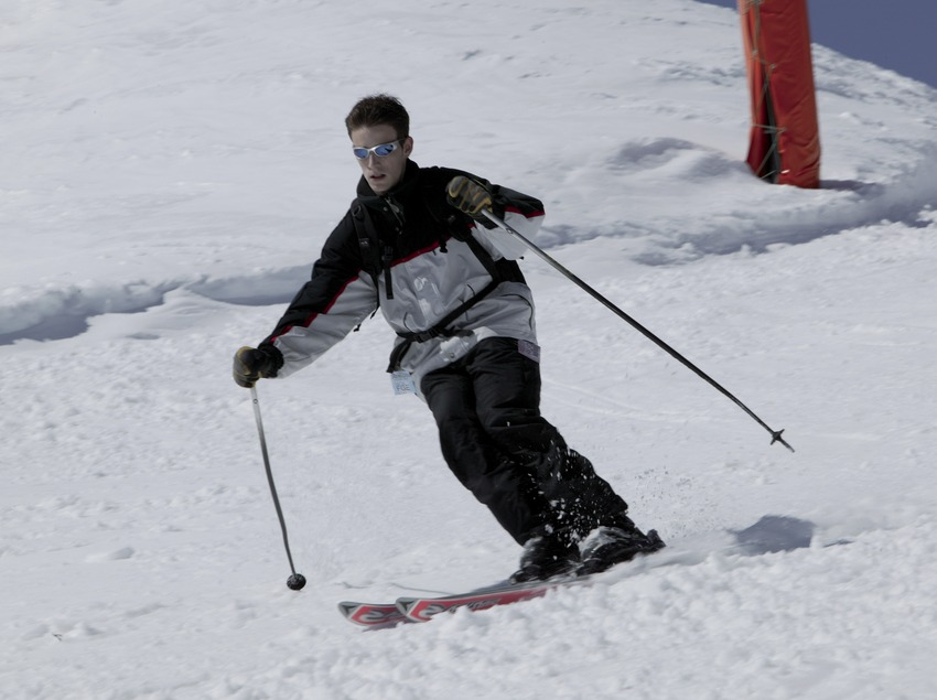 Esquiador en la estación de Vallter 2000 (Nano Canas)