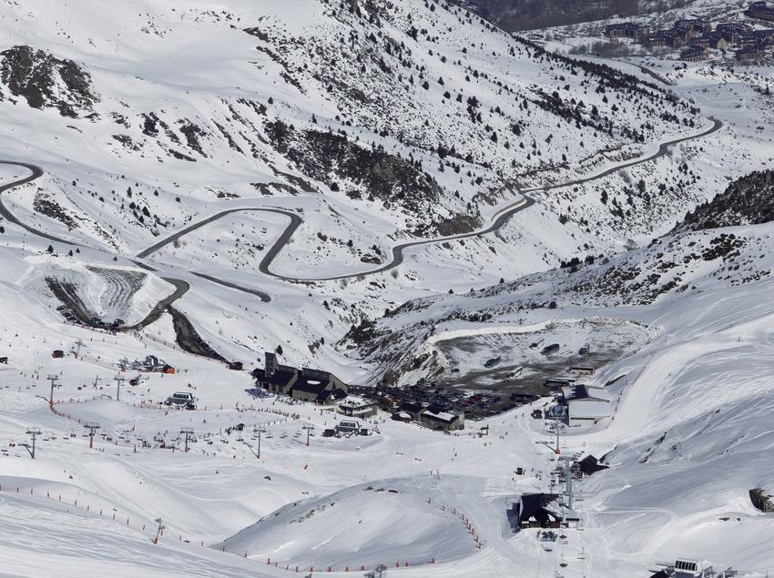 Vista aérea de la estación de esquí Boi-Taüll