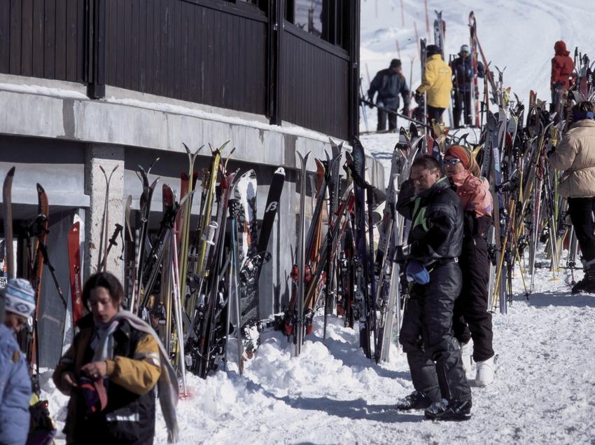 Skieurs à la station de Baqueira Beret (Nano Canas)