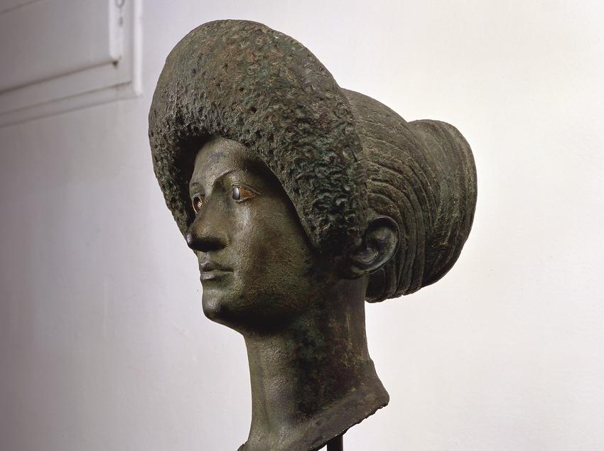 Bust La dama Flàvia procedent del jaciment arqueològic d'Empúries. Museu d'Arqueologia de Catalunya (Imagen M.A.S.)