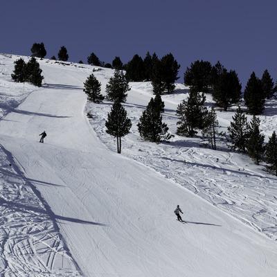 Piste im Skigebiet von Port Ainé (Nano Canas)