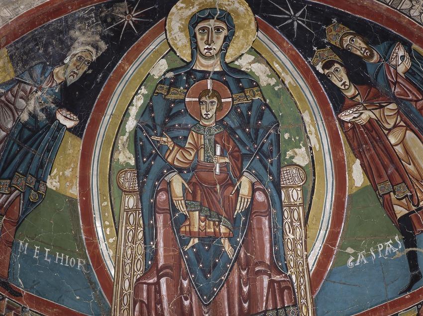 Pantocràtor de l'absis central de l'església de Santa Maria de Taüll (segle XII). Museu Nacional d'Art de Catalunya.