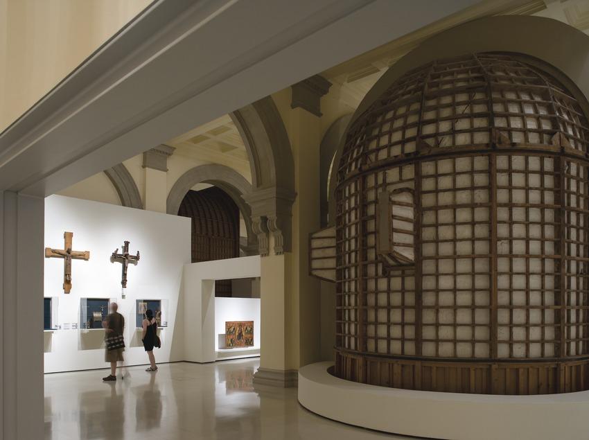 Salas dedicadas al arte románico en el Museu Nacional d'Art de Catalunya.  (Imagen M.A.S.)