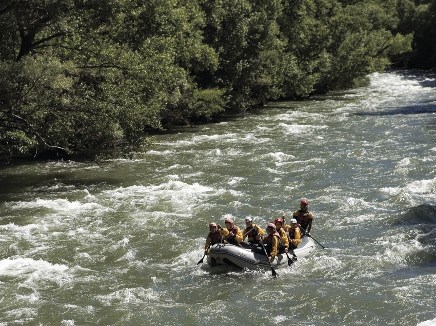 Rafting pendant le Rallye international de la Noguera Pallaresa (Oriol Llauradó)