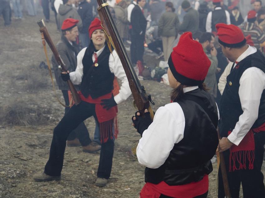 Trabucaires durante la Festa del Pi (Fiesta del Pino) (Oriol Llauradó)