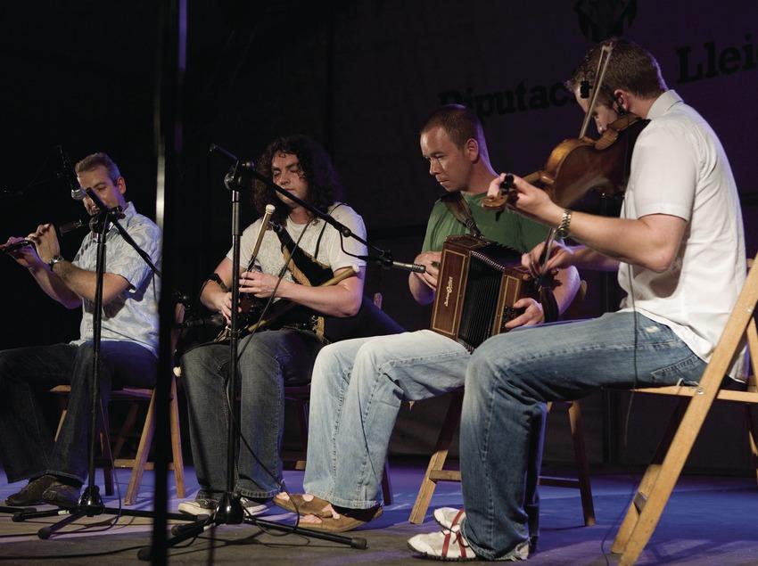 Représentation au cours de la «Trobada d'Acordionistes del Pirineu» (rencontre d'accordéonistes des Pyrénées) (Oriol Llauradó)