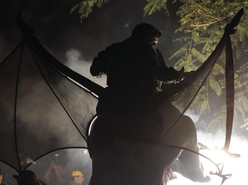 Correfoc en la Via Laietana durante las Fiestas de la Mercè (Oriol Llauradó)