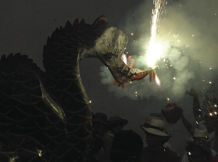 Diables i bèsties durant el Correfoc de la Festa Major de Sant Bartomeu (Oriol Llauradó)