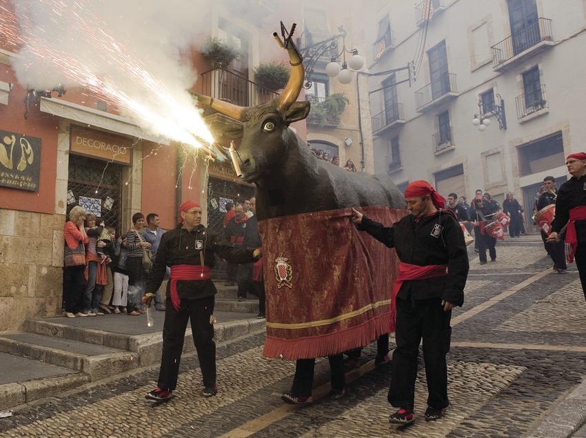 Diablos durante la Fiesta de Santa Tecla
