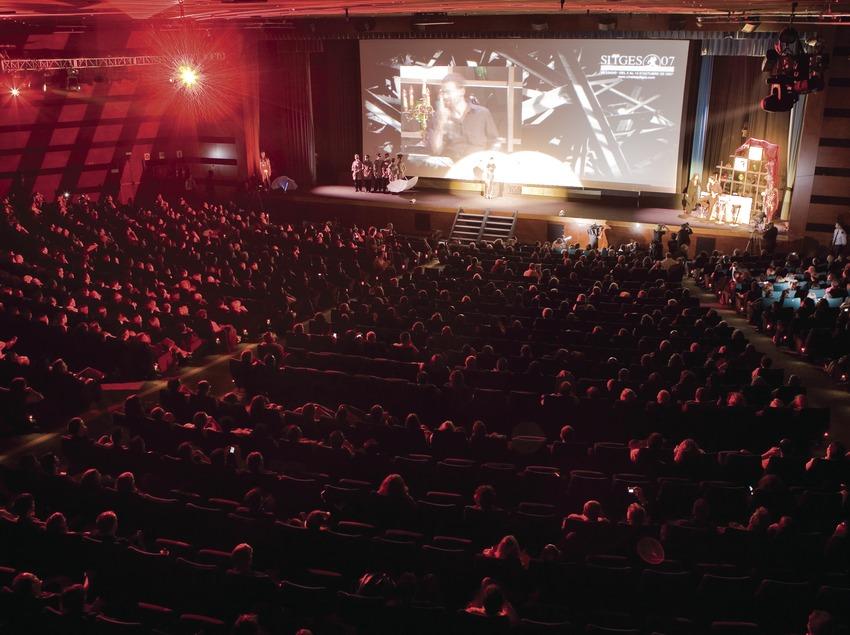 Projecció d'una pel·lícula al Sitges festival - Festival Internacional de Cinema de Catalunya. (Oriol Llauradó)
