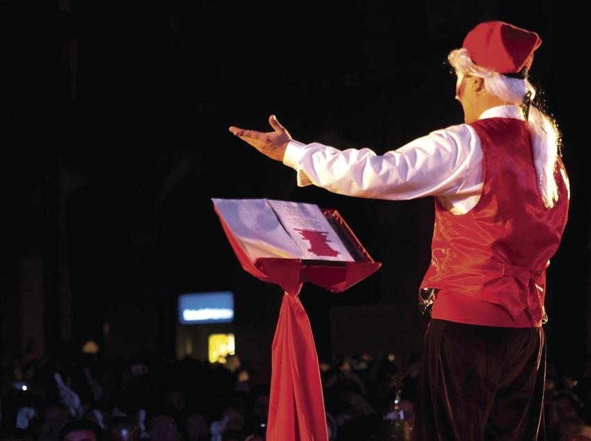Discurso del Rey del Carnaval durante el Carnaval (Oriol Llauradó)
