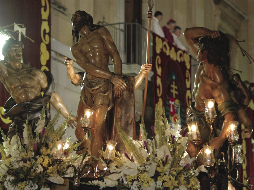 Detail of an image in the procession during Easter Week in Tarragona (Oriol Llauradó)