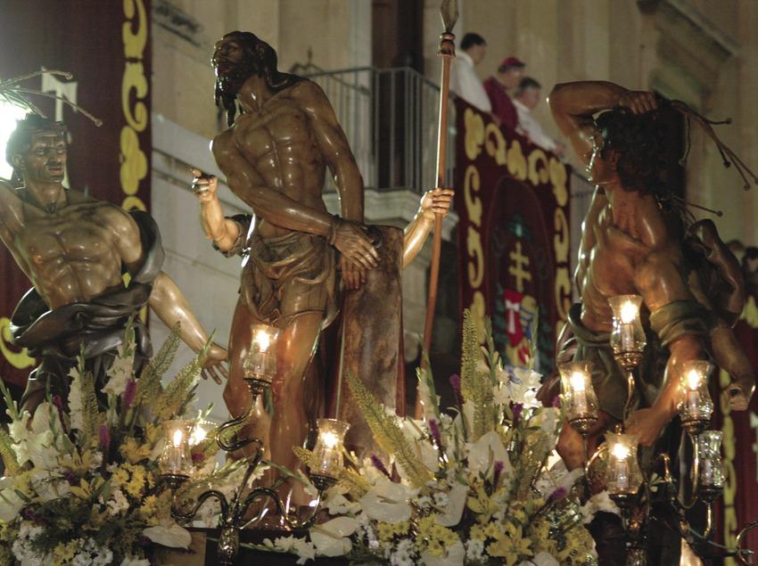 Detall d'una imatge de la processó durant la Setmana Santa de Tarragona (Oriol Llauradó)