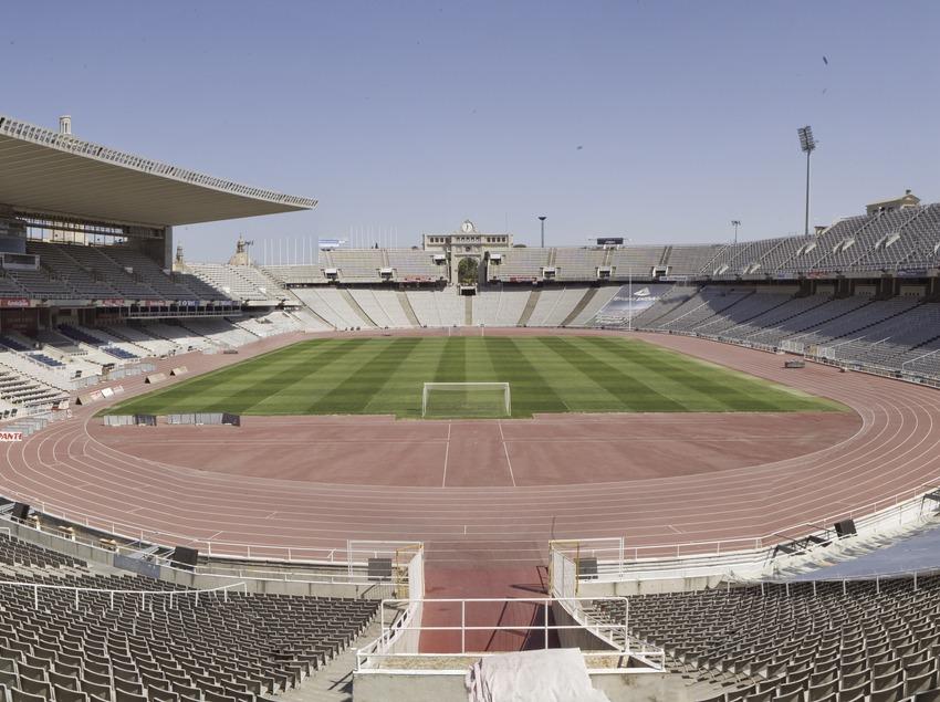 Panoràmica de l'Estadi Olímpic Lluís Companys, Montjuïc