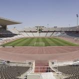 Панорамный снимок Олимпийского стадиона им. Льюиса Компаньса, Монтжуик