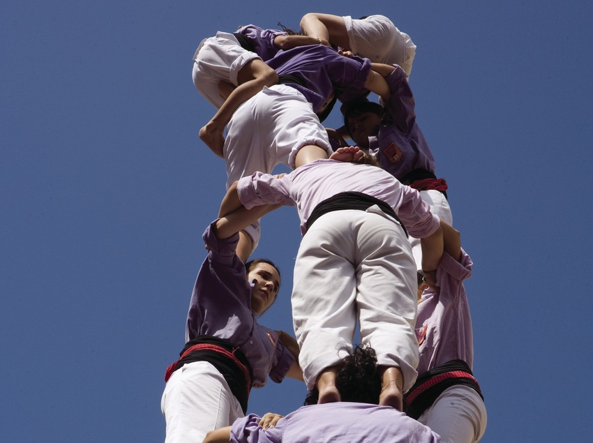 "Exhibition of ""castells"" (human towers) during the Festivities of Santa Tecla"
