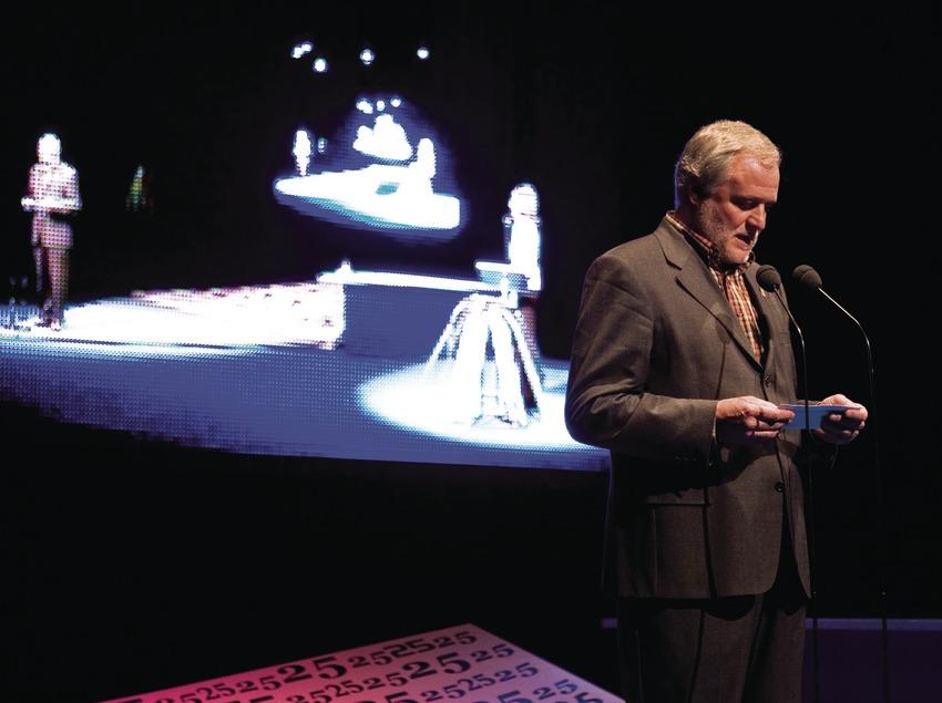 Miquel Franch, maire de Torelló, au Festival international de cinéma de montagne et d'aventure (Oriol Llauradó)