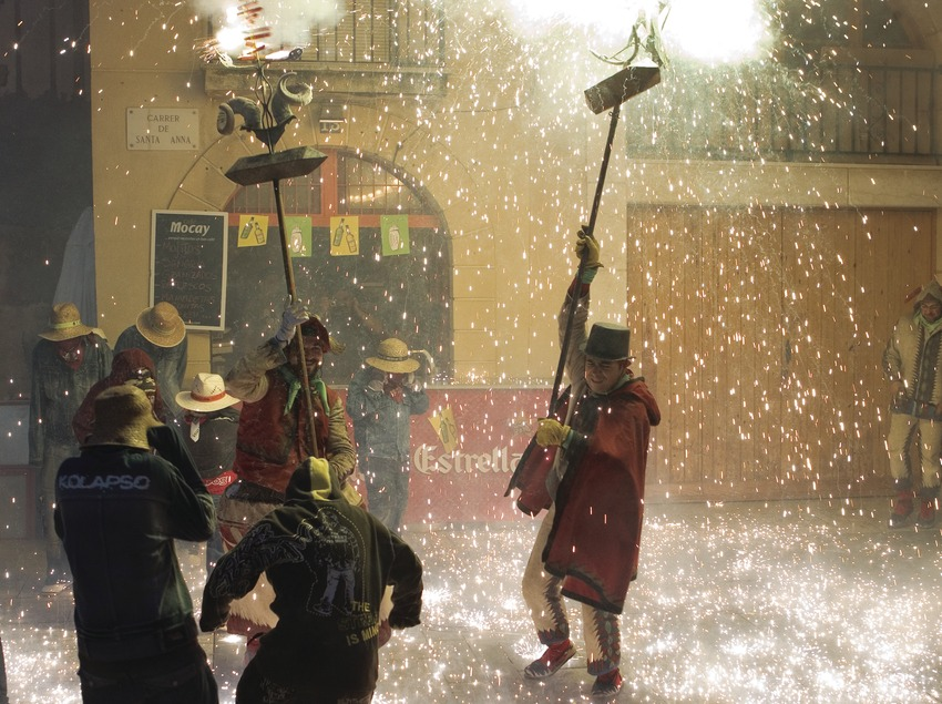 "Devils in the ""Correfoc"" (fire run) during the Festivities of Santa Tecla (Oriol Llauradó)"