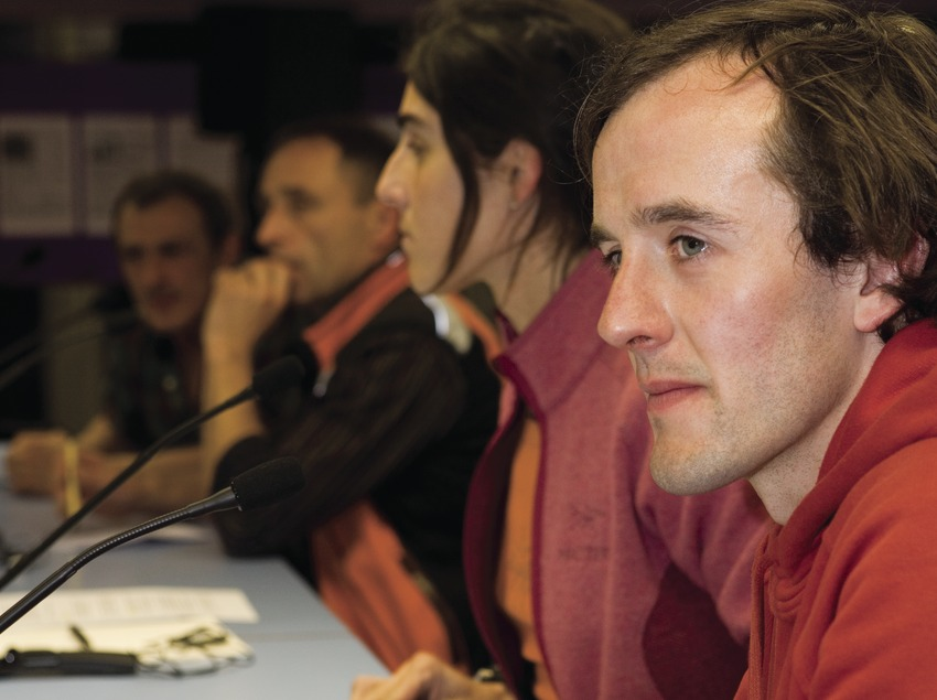 L'alpiniste Dave MacLeod au Festival international de cinéma de montagne et d'aventure (Oriol Llauradó)
