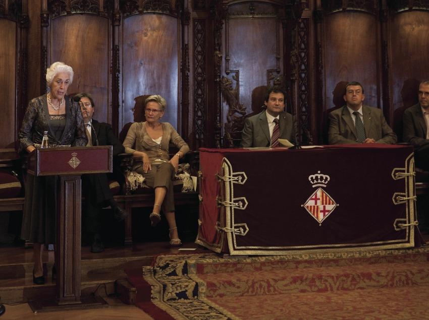Pregón en el Salón de Cent durante las Fiestas de la Mercè (Oriol Llauradó)