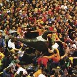Baile del Águila durante La Patum de Berga.