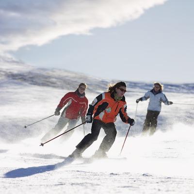Esquiadores en la estación de Baqueira Beret.
