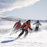 Esquiadores en la estación de Baqueira Beret. (Lluís Carro)