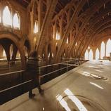 Interior del celler cooperatiu vitivinícola, la Catedral del Vi