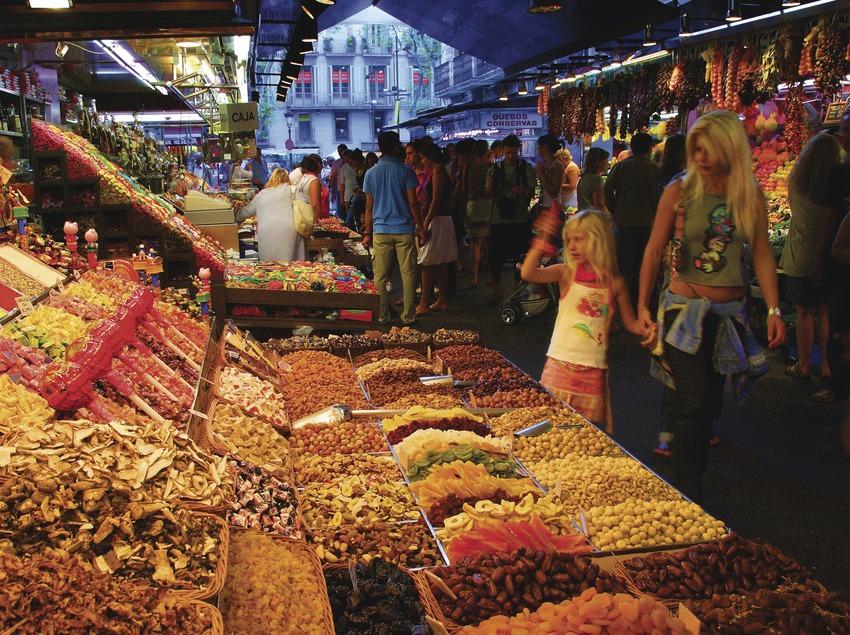 Parada del mercado de la Boquería.