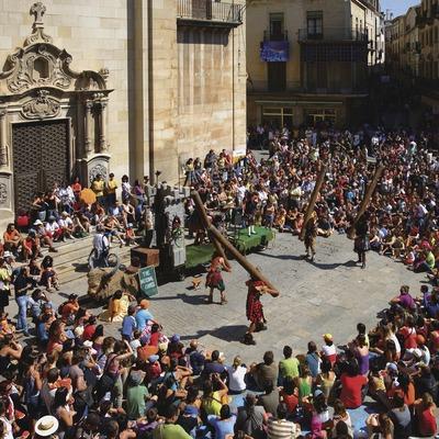 Espectacle a la Fira de teatre de Tàrrega.  (Lluís Carro)