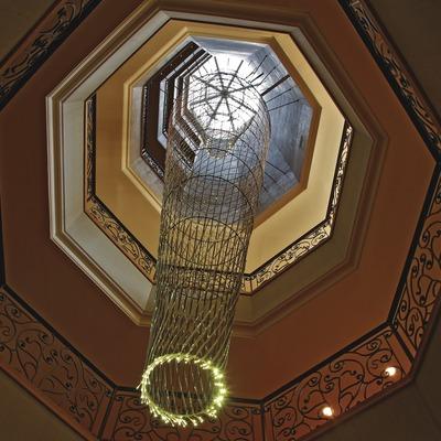 Icona del Hotel la Florida. Làmpada del rebedor d'entrada  (Lluís Carro)